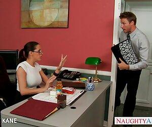 زن و شوهر ، هاردکور ، آسیایی ، ژاپنی ، دفتر ، جوراب شلواری ، عینک