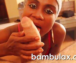 نوجوان آبنوس آماتور شلخته آفریقایی