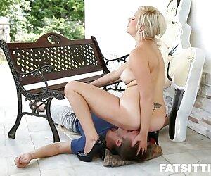 صورت معشوقه چاق که برده مرد خود نشسته است