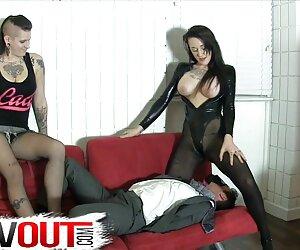 مجموعه چرم سکسی Femdom ، مزخرف خروس