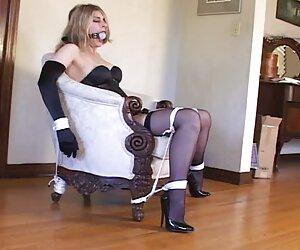 جوراب ساق بلند سکسی و کفش پاشنه بلند با پمپ های 6 اینچ سیاه