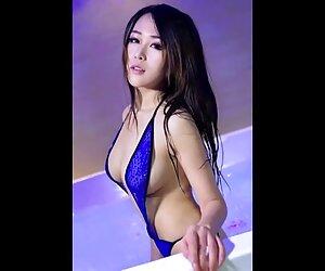 نوار دخترانه چینی داغ و زیبا.